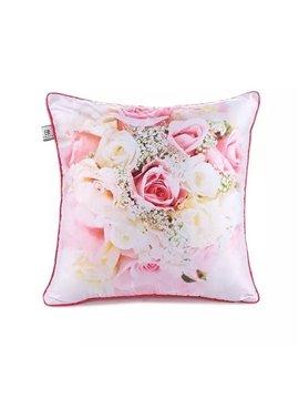 Various Glorious Roses Paint Throw Pillow