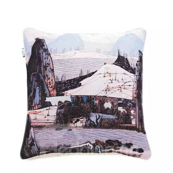 Land of Idyllic Beauty Paint Throw Pillow