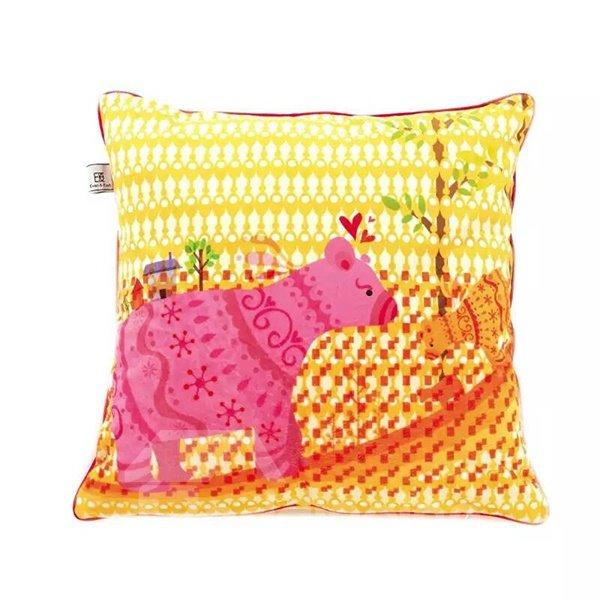 Lovely Cartoon Pigs Paint Throw Pillow