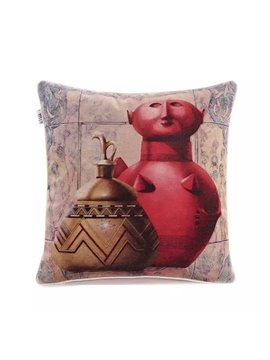 Nationality Characteristic Ceramics Paint Throw Pillow