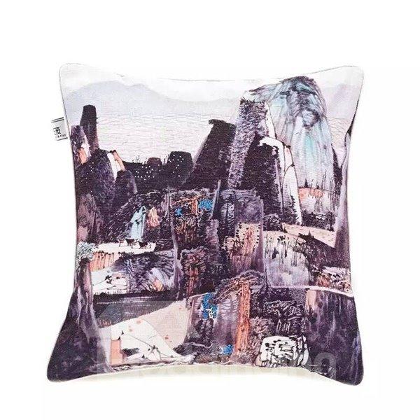 Beautiful Mountains Paint Throw Pillow