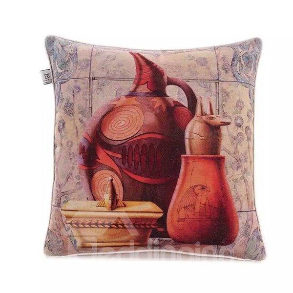 Egypaian Ceramics Paint Throw Pillow