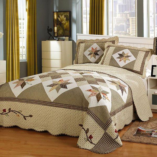 Unique Geometric Figure King Size Cotton 3-Piece Bed in a Bag