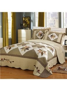 Unique Geometric Figure King Size Cotton 3-Piece Bed in a Bag