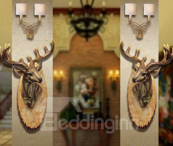 New Arrival Stunning Creative Buck Deer Wall Hanging