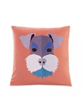 Cartoon Dog with Serious Look Paint Throw Pillow Case