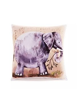 Cartoon Elephant Paint Throw Pillow Case
