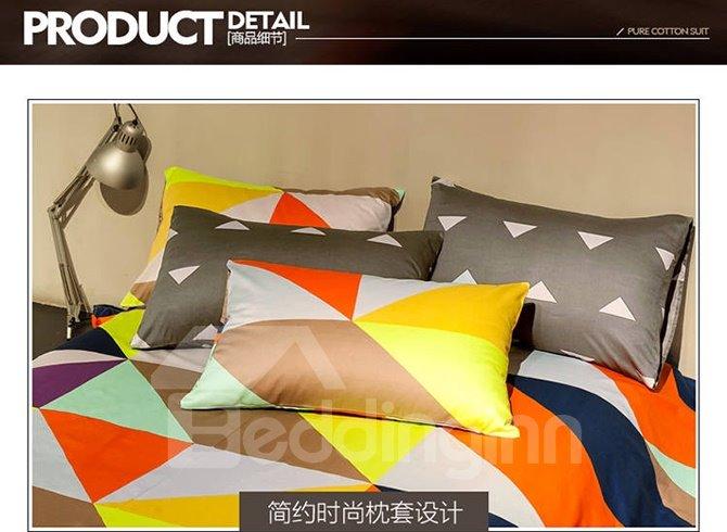 Simple Modern Geometric 4 Pieces Bedding Sets