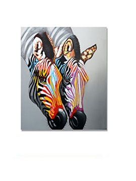 Modern Creative Horse Head in Field 1-Panel Wall Art Print