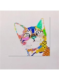 Modern Creative Simple Cat in Field 1-Panel Wall Art Print