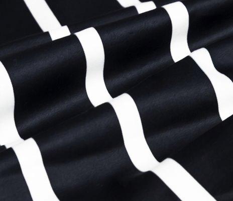Plain White and Black Stripe 4-Piece Duvet Cover Sets