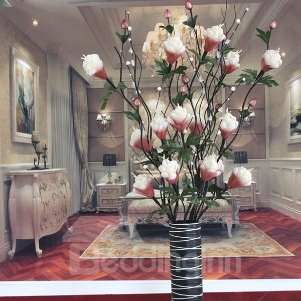 Beautiful Artificial Veins Dried Flowers For Living Room