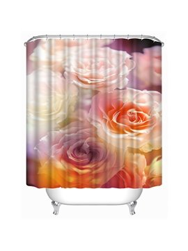 Colorful Roses Print 3D Shower Curtain
