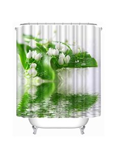 Lily of the Valley Print 3D Shower Curtain