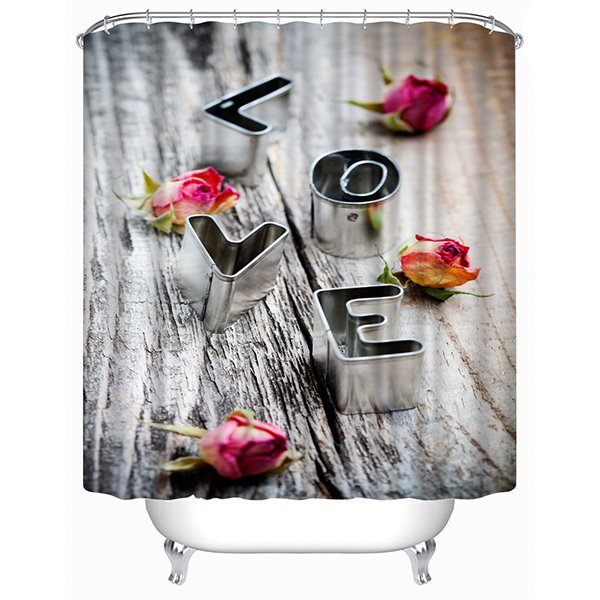 The Letter of Love Print 3D Shower Curtain