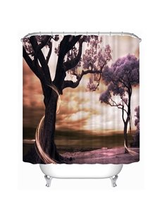 Romantic Love Trees Print 3D Shower Curtain