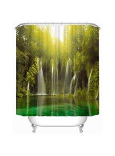 Light through the Waterfall Print 3D Shower Curtain