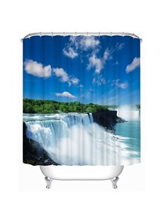 Beautiful Waterfall in a Sunny Day Print 3D Shower Curtain