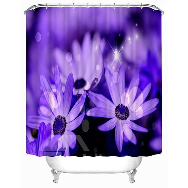 Newly Arrived Purple Daisy Print 3D Shower Curtain