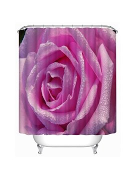 Romantic Full-Blown Rose Print 3D Shower Curtain