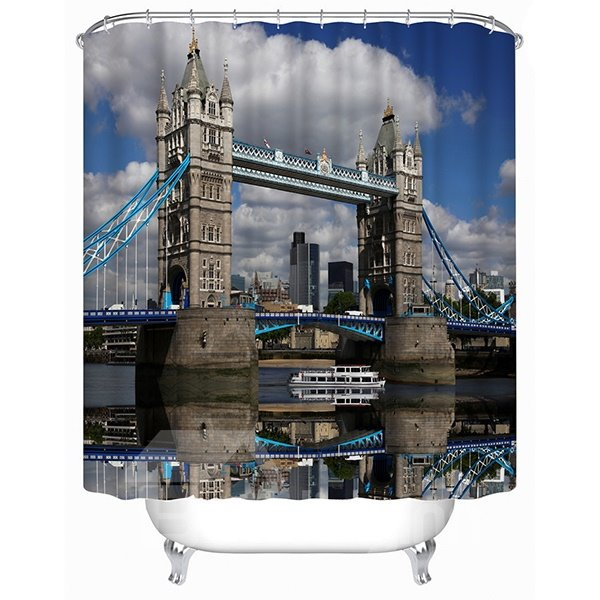 High-Class Tower Bridge Print 3D Shower Curtain