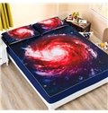 Galaxy Vortex Printing Coral Fleece Fitted Sheet