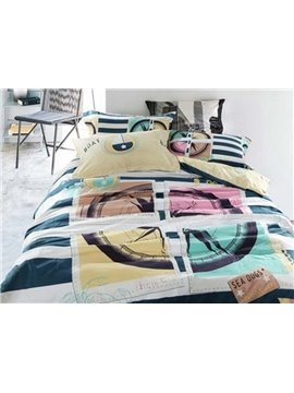 Modern Clocks Printing 4-Piece Duvet Cover Sets