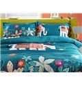Lovely Cartoon Elephant 4-Piece Duvet Cover Sets