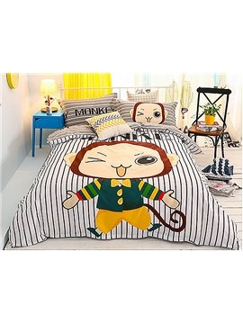 Lovely Cute Monkey 4-Piece Duvet Cover Sets