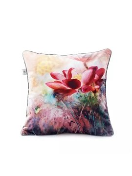 High-colored Blooming Flower Paint Throw Pillow Case