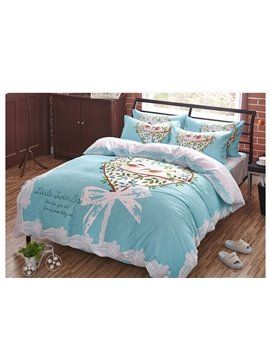 Fresh Birds Printing 4-Piece Duvet Cover Sets