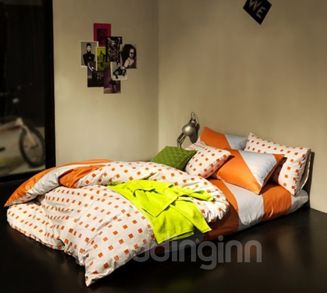 Fashion Colorful Geometric 4-Piece Duvet Cover Sets