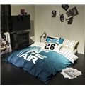 Simple Letter and Digit Printing 4-Piece Duvet Cover Sets