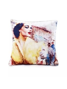 Charming Gorgeous Lady Paint Throw Pillow Case