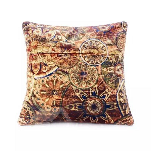 Eurpean Style Golden Circle Paint Throw Pillow Case