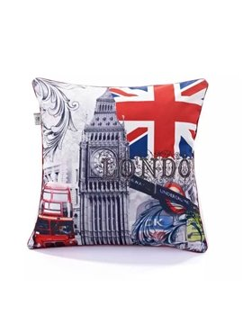 Classical Britain Scene Paint Throw Pillow Case
