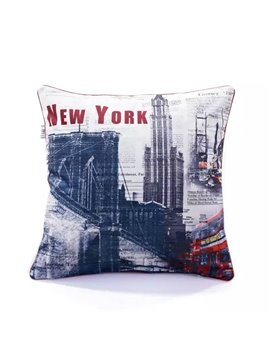 Classical New York Scene Paint Throw Pillow Case