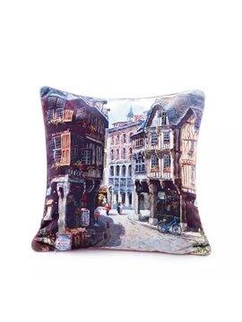 Trendy Italian Streetscape Paint Throw Pillow Case