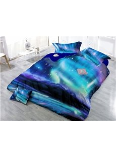 Starry Galaxy Digital Printing Satin Drill 4-Piece Duvet Cover Sets