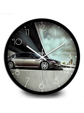 Simple Sports Car Wall Clock with Quiet Voice