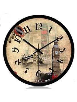 Fashion Creative European Building Wall Clock