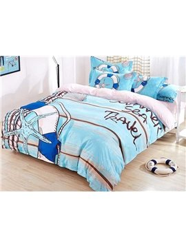 Fresh Blue Sea 4-Piece Duvet Cover Sets