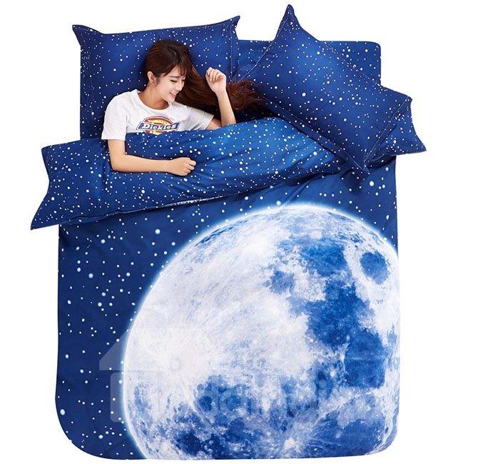 Charming Big Moon 4-Piece Duvet Cover Sets