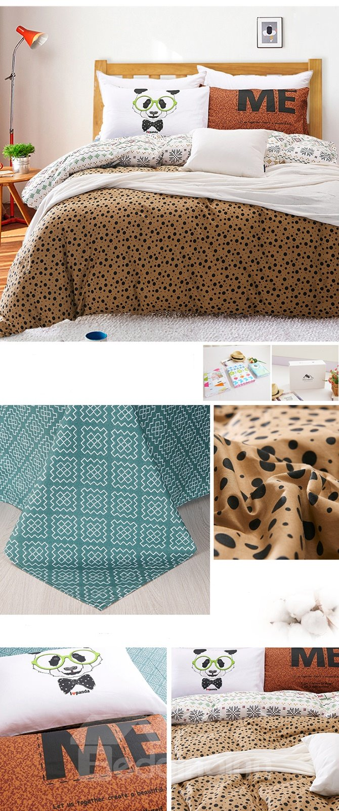 Cute Animal Print 4-Piece Duvet Cover Sets