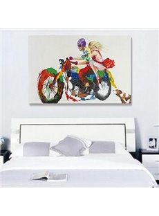 Romantic Boy and Girl Hand Painted Wall Prints for bedroom