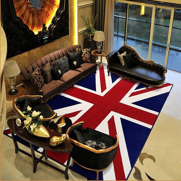 Classical European Style Rectangle Union Jack Area Rugs