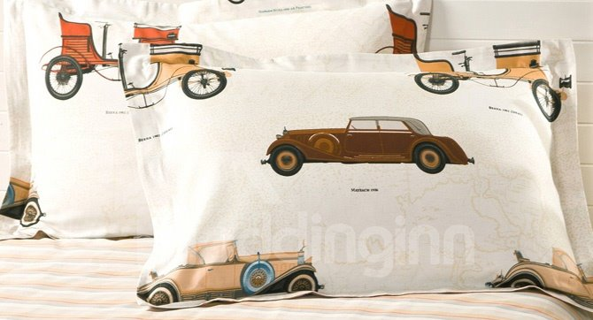 A Variety Of Cartoon Car 4-Pieces 100% cotton Bedding Sets