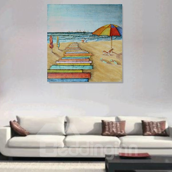 Creative Leisure Beach Hand-Painted Wall Prints