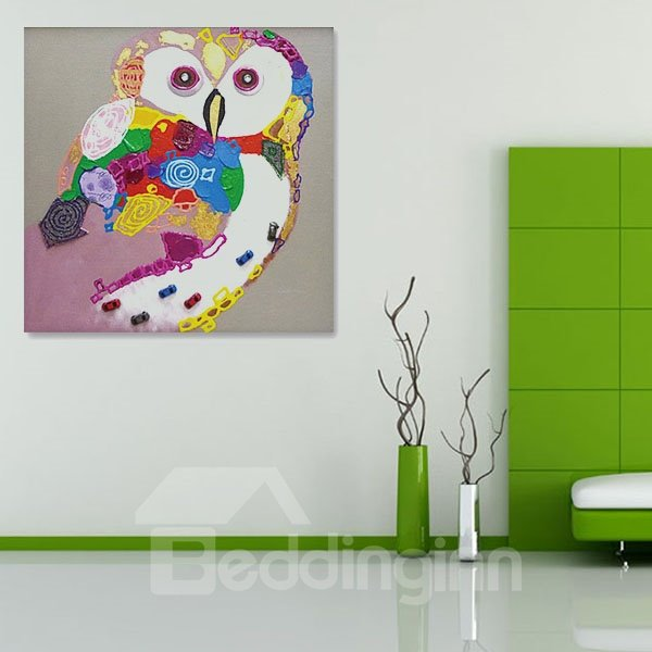 Creative Hand-Painted Owl Animal Wall Prints