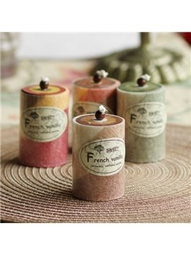 Creative Cylinder Fragrance Candle with Four Different Scent